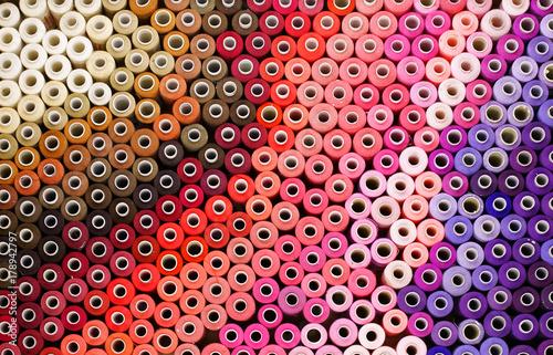 Slika na platnu Colored threads in a reel