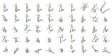 Stick Man Figures Icons Set, I...