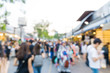Blurred people shopping on weekend downtown JJ market street outdoor Chatuchak
