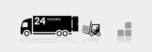 Forklift Truck Loading The Box...