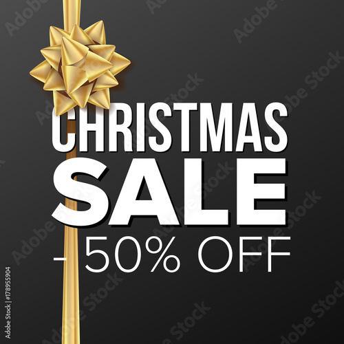 christmas sale banner vector business advertising illustration
