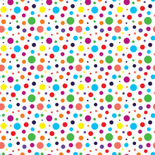 Seamless Pattern With Colored Dots