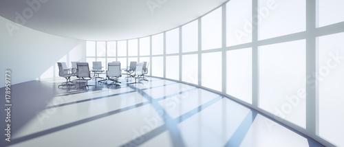 Valokuva  Ovaler Meeting Room mit Besprechungstisch
