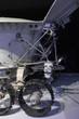 Lunar rover - moon robot - closeup of wheel. Selective focus.