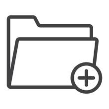 Add Folder Line Icon, Web And ...
