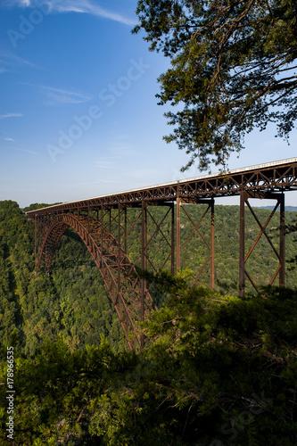 In de dag Brug Morning View of New River Gorge Bridge - West Virginia