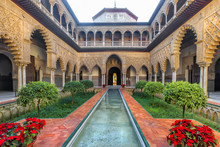 Real Alcazar In Seville. Spain.