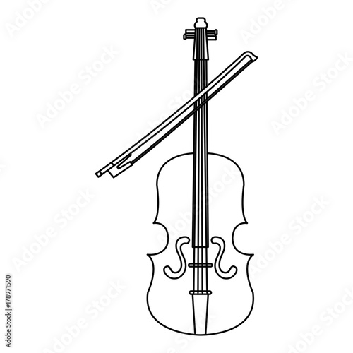 fiddle instrument isolated icon - Buy this stock vector and