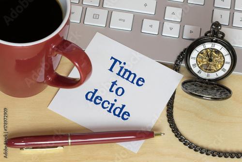 Zdjęcie XXL Czas na decyzję