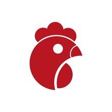 Head Of Chicken Logo Design Co...