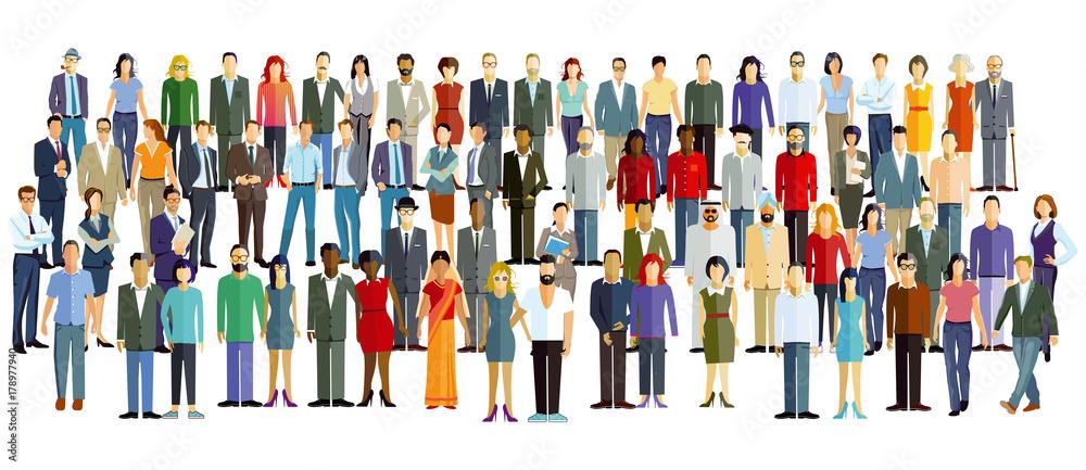 Fototapeta eine große Personengruppe stehen zusammen