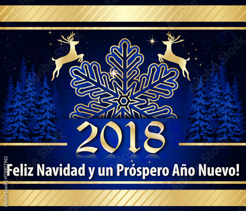 corporate greeting card designed for the spanish speaking market text translation merry christmas