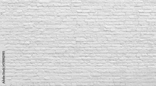 Aluminium Prints Graffiti White old brick wall urban Background.