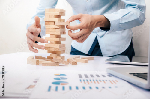 Fotomural Business Risk, Strategy, Planning management concept idea.