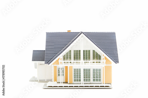Photo  Miniature House Isolated on White
