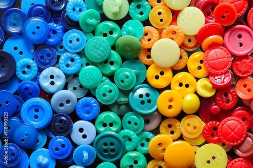Cadres-photo bureau Macarons Colorful button for background