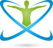Person, Kreise, Fitness, Gesundheitswesen, Logo