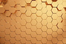 Golden Hexagonal Honeycomb Bac...