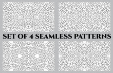 Celtic Knot Seamless Patterns Of Black And White Shades