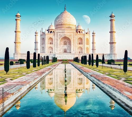 Fotobehang Delhi taj mahal in delhi indien