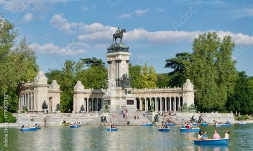In de dag Madrid Retiro park in Madrid