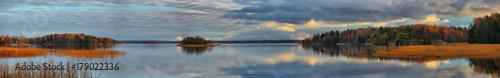 Poster Lac / Etang Panorama of autumn lake at sunset