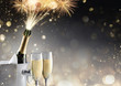 canvas print picture Champagne And Fireworks For Sparkling Celebration