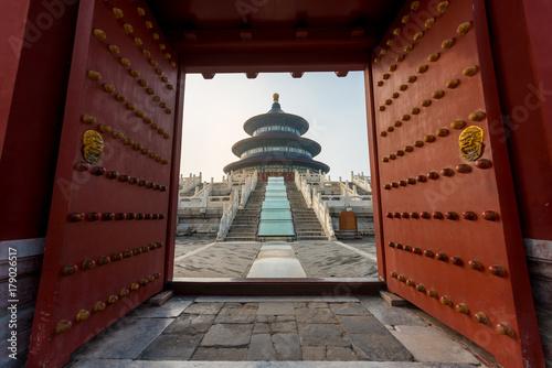 Fond de hotte en verre imprimé Pékin Wonderful and amazing Beijing temple - Temple of Heaven in Beijing, China. Hall of Prayer for Good Harvest..