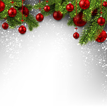 Background With Red Christmas ...