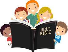 Stickman Kids Holy Bible Illustration
