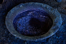 Processing Of Indigo Dyed Cotton , Fermented Dyeing In Vat,Thailand
