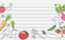Vegetable Garden Paper Drawing...