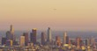 DTLA skyline view at sunset from Hollywood Hills, Los Angeles, California