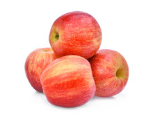 Stack Of Red Gala Apple Isloated On White Background