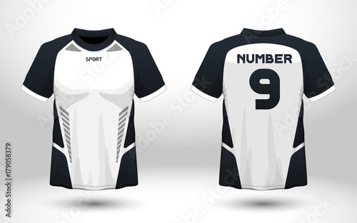 a9c5c9741 Layout football sport t-shirt design. Template front, back view. Soccer kit