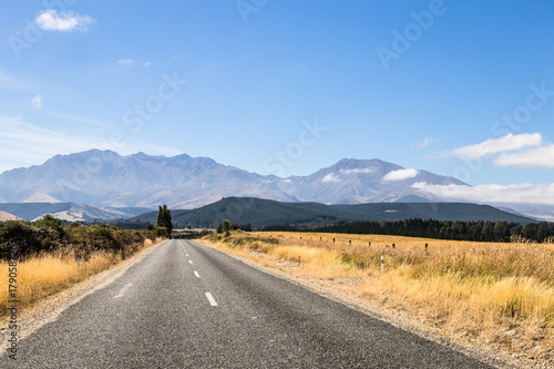 Canvas Prints New Zealand On the road in New Zealand south island near lake Monowai
