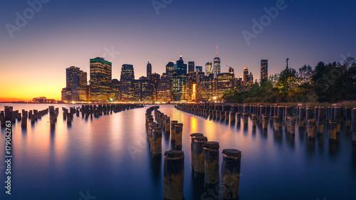 Poster New York New York City Skyline at Night