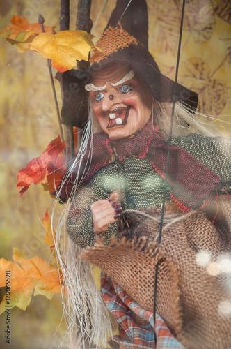 Decoration Sorciere Halloween.Sorcière En Décoration Pour Halloween Buy This Stock Photo And