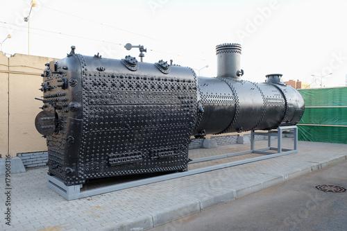 inside boiler of a steam locomotive