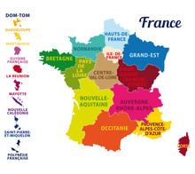 Carte De France Avec Ses 13 No...