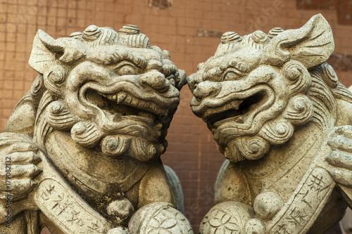 Plakat Para lew rzeźb
