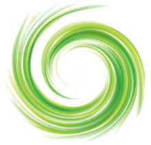 Vector Swirling Backdrop Green...