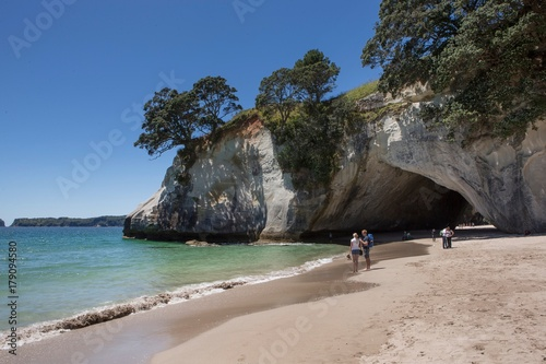 Montage in der Fensternische Cathedral Cove Cathedral Cove Coromendal New Zealand