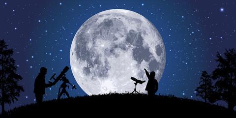 lune - clair de lune - astr...