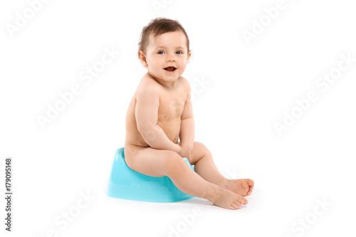 child  on the potty Canvas Print