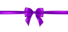 Vector Violet  Ribbon Bow