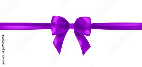 Fotografía Vector violet  ribbon bow