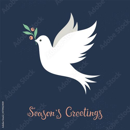 Christmas Dove Wall mural