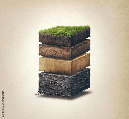 Soil layers Fotobehang