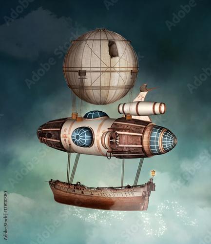 Fotografia Steampunk fantasy vessel